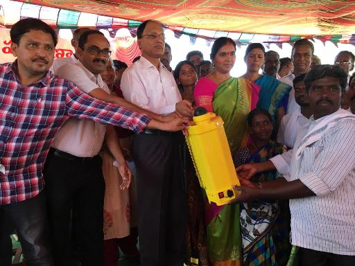 Photo - Distribution of critical inputs to SC communities in Venkatapur, Medak district